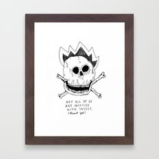 GETTING RID OF PUNK-ROCK MYTHS #1 Framed Art Print
