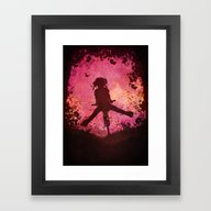 Chasing The Wind (pink) Framed Art Print
