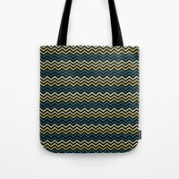 Chevron #265C73 Tote Bag
