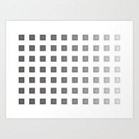 TITANIUM ZIGZAG Art Print