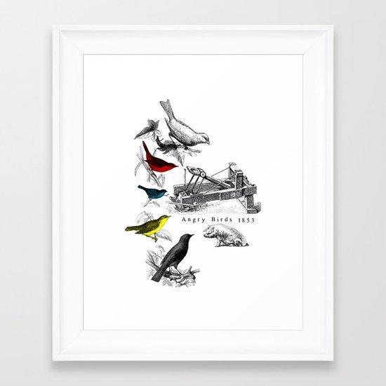 Etude - Angry Birds Framed Art Print