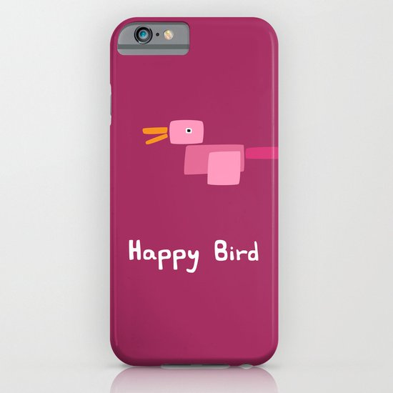 Happy Bird-Pink iPhone & iPod Case