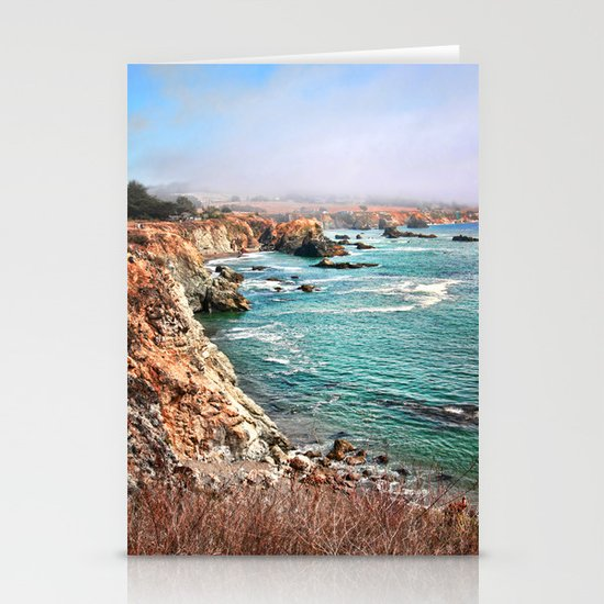 California coastline Stationery Card