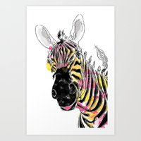 Zebra fun  Art Print