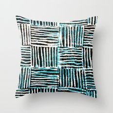 Black and Blue Pattern Print Throw Pillow