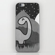 Dinosaur at midnight iPhone & iPod Skin