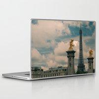 eiffel Laptop & iPad Skins featuring Eiffel by Esteban Calderón