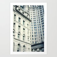 NYC Downtown Buildings, New York City Photography Art Print