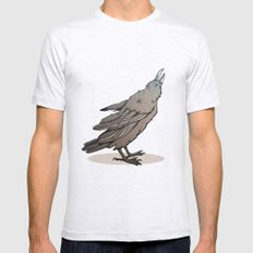Crowing Crow Mens Fitted Tee Ash Grey SMALL