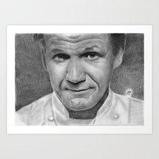 Gordon Ramsay Art Print