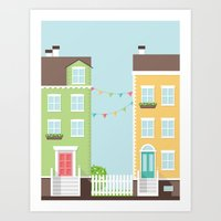 Little Houses Art Print
