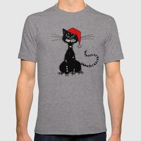 Evil Christmas Cat Mens Fitted Tee Tri-Grey SMALL