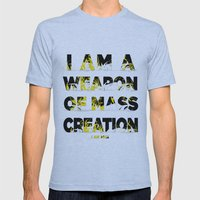 I am a Weapon of Mass Creation Mens Fitted Tee Athletic Blue SMALL