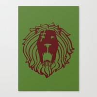 The Lion's Sin of Pride Canvas Print
