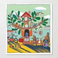 going somewhere! Canvas Print