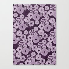 Painted Gears Canvas Print