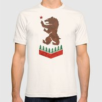 California Sigil Mens Fitted Tee Natural SMALL