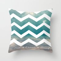 Summer Underwater Throw Pillow