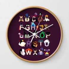 Evil-phabet Wall Clock