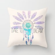 Throw Pillow featuring Dare To Dream by Sara Eshak