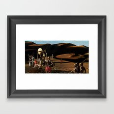 The gods must be crazy | Collage Framed Art Print