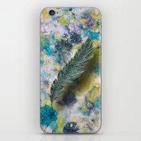 CRAYON LOVE: Aqua Feather iPhone & iPod Skin