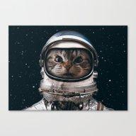 Space Catet Canvas Print