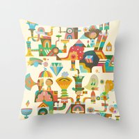 The Chipper Widget Throw Pillow
