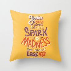 Spark of Madness Throw Pillow