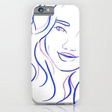 Blue Portrait iPhone 6 Slim Case