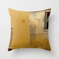 Colors Of Crete - Yellow Throw Pillow