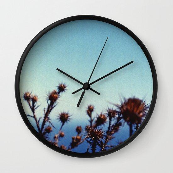 Sun-Bleached Blossom Wall Clock