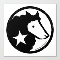 Unaffiliated Party Star Canvas Print