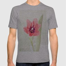 Pretty Pink Tulip Mens Fitted Tee Athletic Grey SMALL