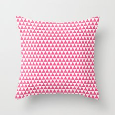 Triangles - Hot Pink And… Throw Pillow