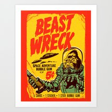BEASTWRECK ATTACKS! Art Print