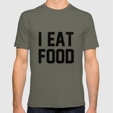 I Eat Food Mens Fitted Tee Lieutenant SMALL