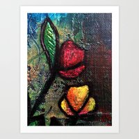 Painted Tulips Art Print