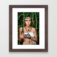 castaway girl Framed Art Print