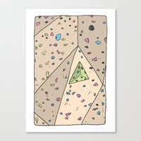 Climbing Wall Canvas Print