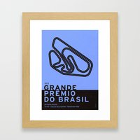 Legendary Races - 1973 Grande Prêmio do Brasil Framed Art Print
