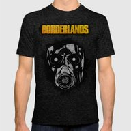 Borderlands Mens Fitted Tee Tri-Black X-LARGE