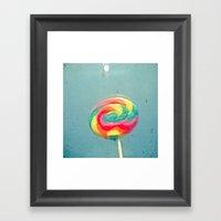 I Can Taste A Rainbow Framed Art Print