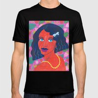 Strawberry Girl Mens Fitted Tee Black SMALL