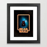 Bear Wars - Darth Teddy Framed Art Print