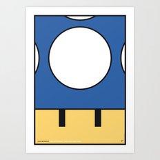 MY MINI MUSHROOM MARIO BROS MINIMAL POSTER  Art Print