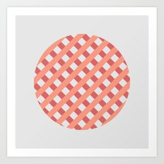 striped circle I Art Print
