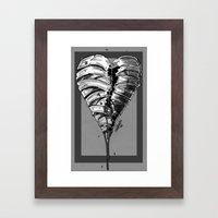 Razor Blade Romance (Black and White Version) Framed Art Print