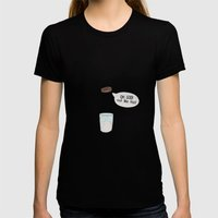 a biscuit's journey Womens Fitted Tee Black SMALL