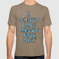 Donut Care Mens Fitted Tee Tri-Coffee SMALL